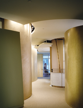 Main Corridor of Earth Quadrant, View of Opening to Floor Below and Office Area in Background