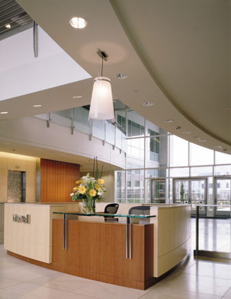 Main Lobby with Reception Desk