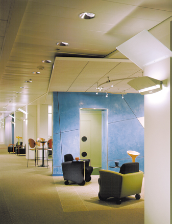 Typical Office Floor, View of Teaming and Break-Out Workspaces